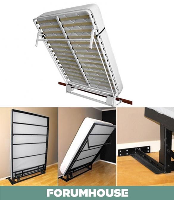 Как самому сделать кровать трансформер в шкафу 170