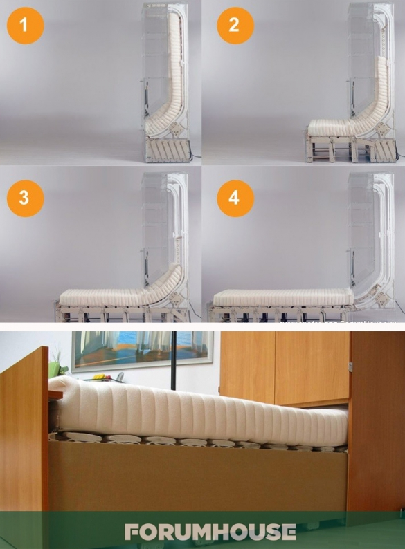 Как самому сделать кровать трансформер в шкафу 781