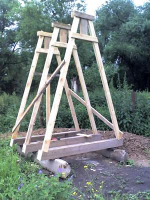 Треугольный туалет на даче своими руками 979