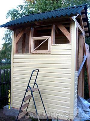 Туалет для дачи своими руками из сайдинга