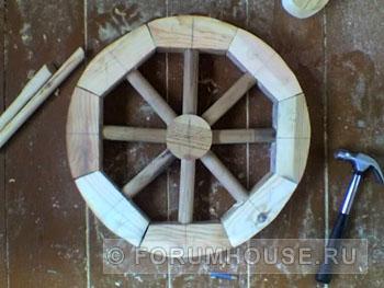 Как сделать декоративное колесо своими руками