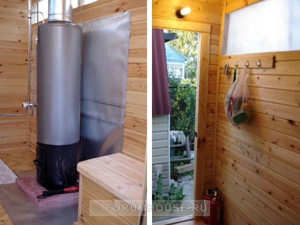 Как сделать теплую душевую на даче