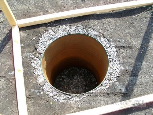 Дачный туалет как сделать яму из бочки
