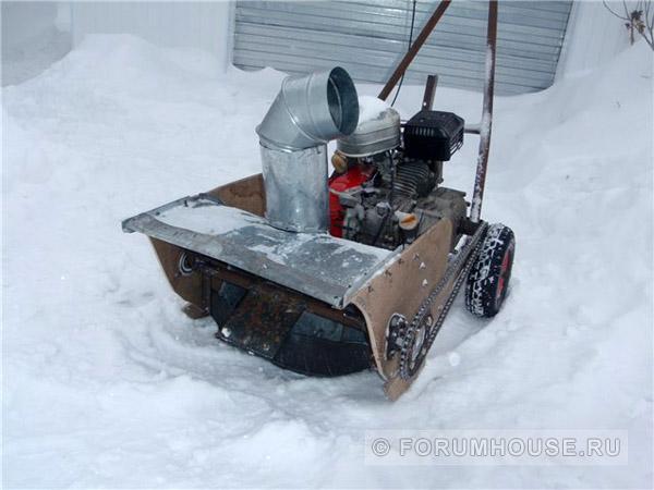 Самодельный снегоуборщик из бензопилы своими руками