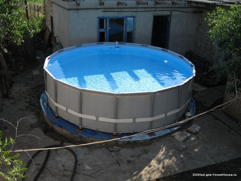 Как сделать простой бассейн своими руками