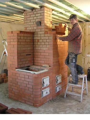 Строительство печи для дачи своими руками