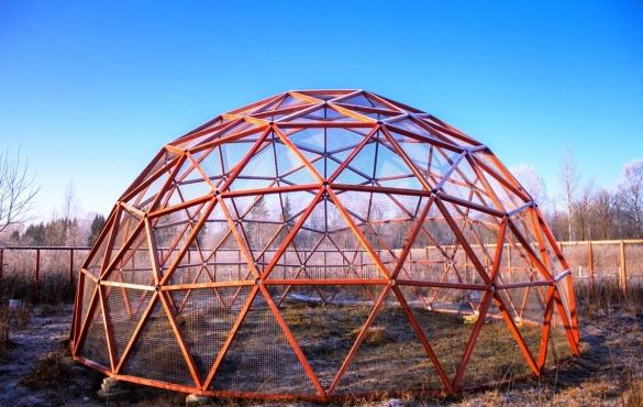 Геодезический сотовый купол своими руками 100
