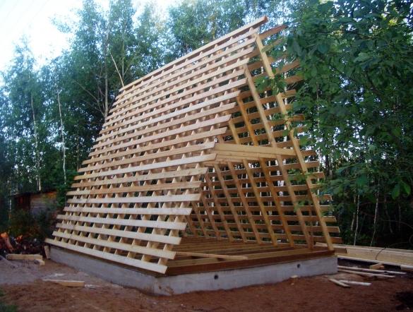 Как построить треугольный дом своими руками 90