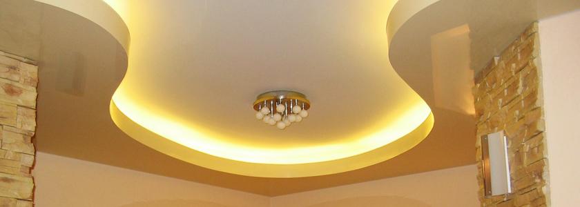 Потолок из гипсокартона – как сделать самостоятельно