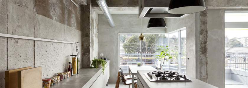 Бетон в интерьере: шпаклевка, плитка, мебель, элементы декора