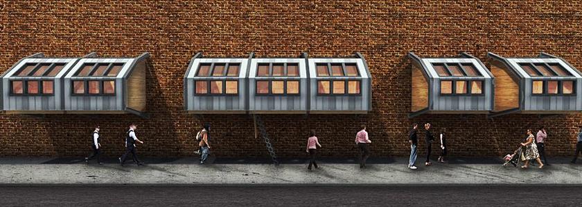 Подвесной мини-дом как быстровозводимое пристанище или балкон