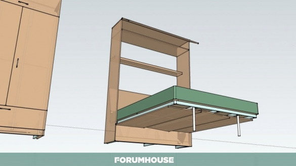 Схема кровать-шкаф трансформер своими руками