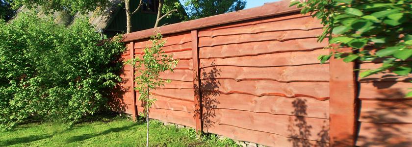 Забор из необрезной доски. Своими руками