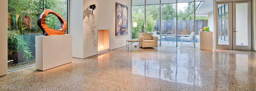 Шлифованный бетонный пол – красота, практичность, долговечность