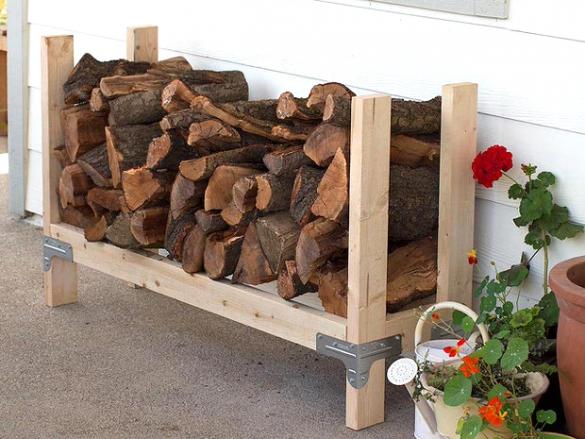 Подставка для дров как сделать 28