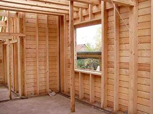 Вариант внутренней отделки дома - обшивка стен отделочной доской (имитация бруса 20х170мм)