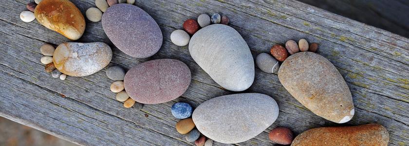 Каменные следы в вашем саду