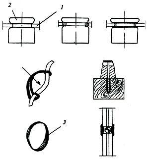 крепление проводов к роликам