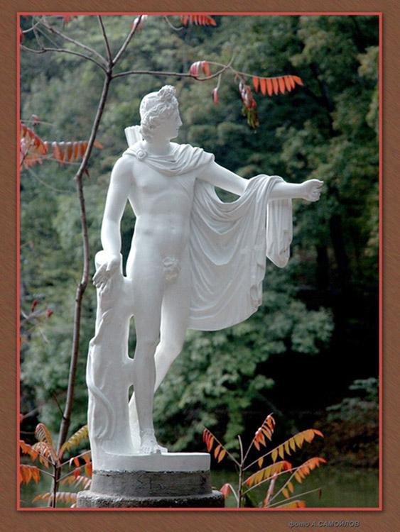 Скульптура в английском садике
