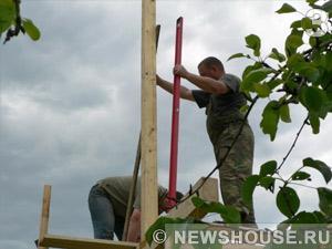 Строительство каркаса мансарды