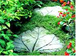 Дорожка из «каменных» листьев