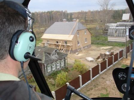 дом с вертолёта