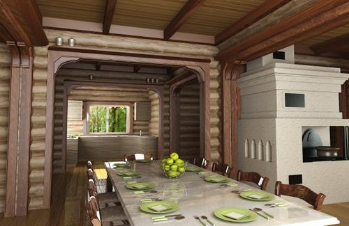 Отделка бревенчатого дома