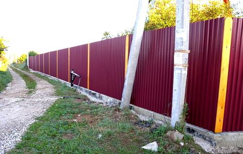 новый забор
