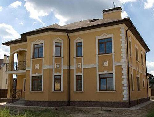 отштукатуренные фасады домов фото