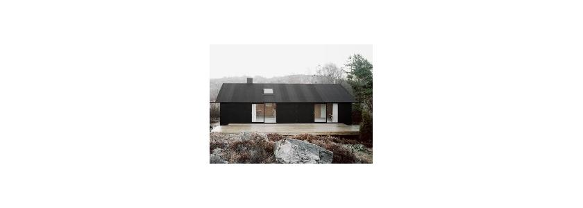 Черно-белый шведский дом