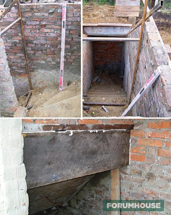 Подвал из дорожных плит 4 железобетонные изделия