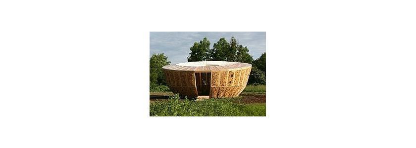 Дом из початков кукурузы за 7 тысяч евро