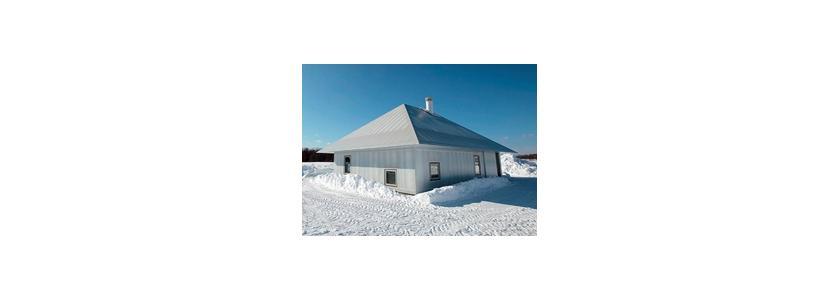 Светящийся дом для холодной зимы