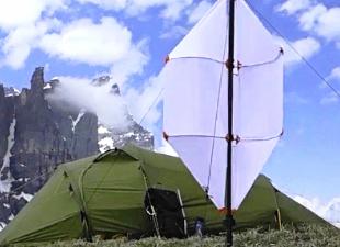 Портативная ветряная турбина: походный вариант