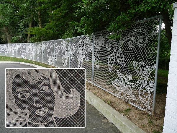 Как сделать узор на заборе 11