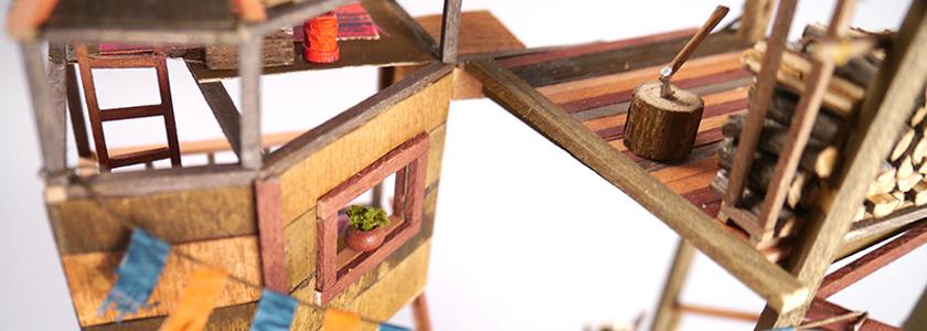 Дом на дереве, уменьшенный вариант