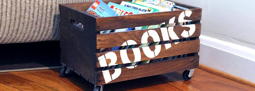 Деревянный ящик для книг: идея на заметку