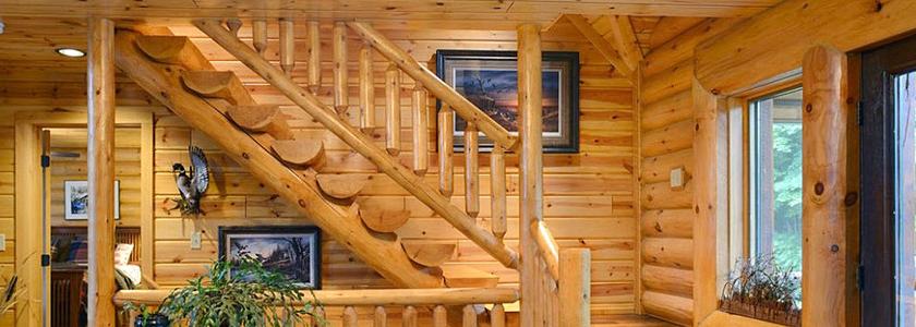 Лестницы в срубах до усадки – опыт участников портала