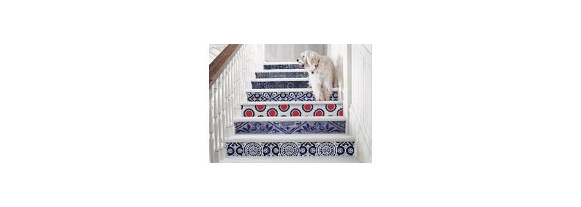 Рисунки на лестнице: оригинальные дизайнерские находки