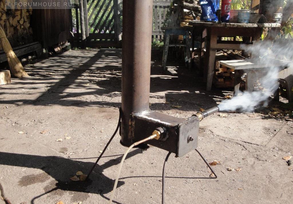 Коптилка с дымогенератором своими руками