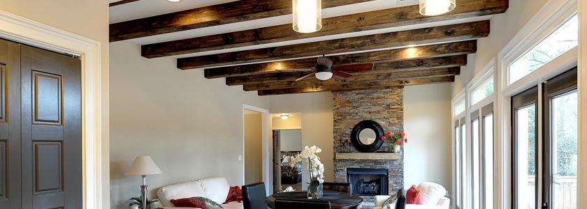 Декоративные потолочные балки – разновидности, способы изготовления, опыт участников портала