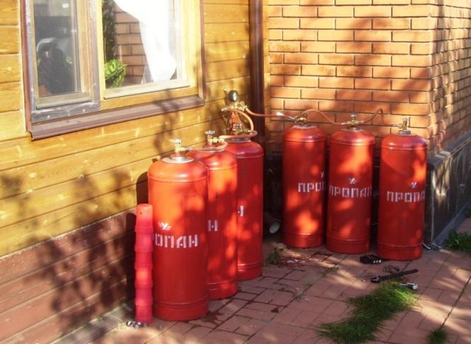 Газовый котел от баллона 50 литров
