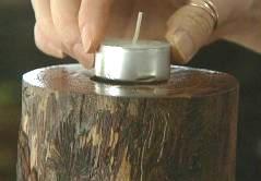 свечи из брёвен
