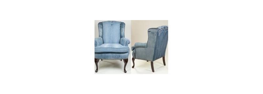 Мебель из джинсовой ткани