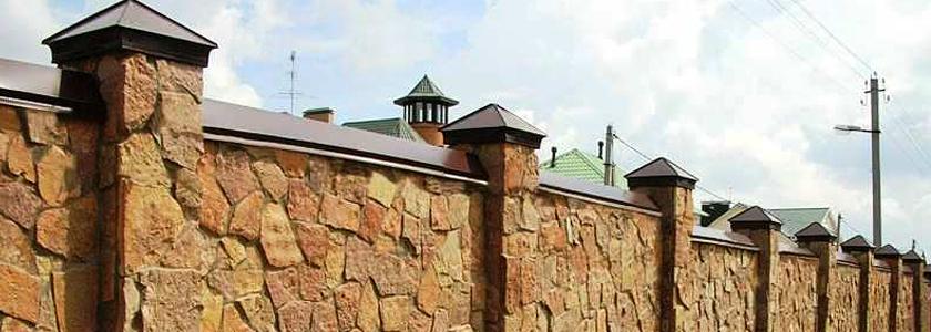 Каменный забор: технологии, варианты, особенности, личный опыт