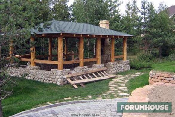 Барбекю зона отдыха зимний вариант печь барбекю для дачи в беседке фото