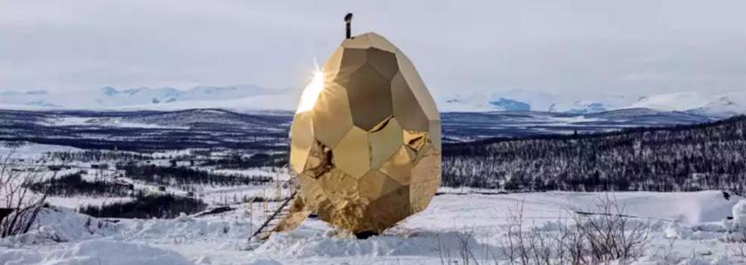 Сауна-яйцо из Швеции с подпиткой от солнца