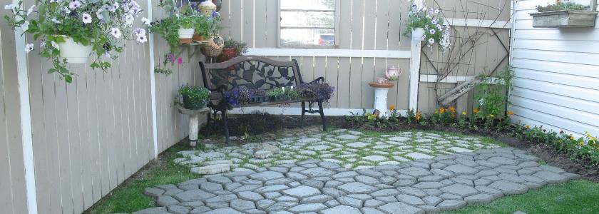 Красота под ногами: делаем садовые дорожки из формы
