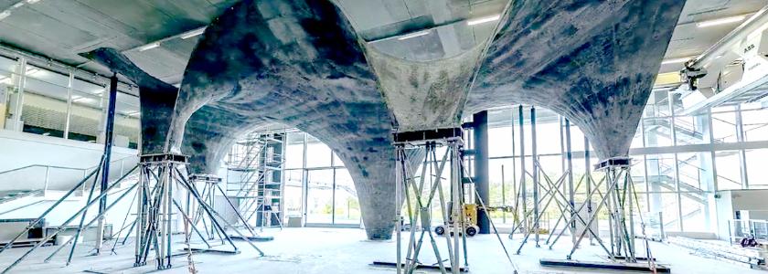 Парящая крыша из ультратонкого бетона