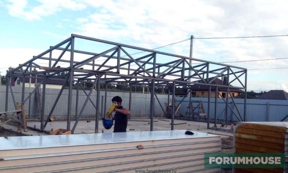 Как собрать металлический каркас для гаража гаражи кемерово купить кировский